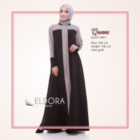Queena Dress by Eldora gamis wanita musliimah