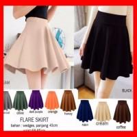 BEST MODEL Rok Pendek Mini Hitam Wanita Murah Flare Skirt Terlaris Be