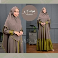 Baju Gamis Syari Wanita Muslim Terbaru Aresya Syari Murah