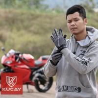 Kucay Gloves Dayride Grey - sarung tangan motor kucay dayride abu abu