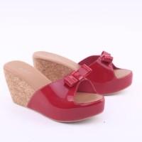 Harga wedges branded merah coklat tan gr 36 sandal pesta wanita hak | Pembandingharga.com