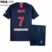 6e5d175ff844c3 2019 PSG Mbappe No.7 Paris Saint-Germain Beranda Football Jersey Boys