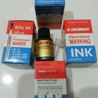 Refill tinta isi ulang permanent marker ink spidol