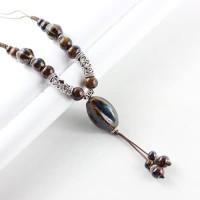 Harga kalung chinese etnik batu keramik oval beads kc   Pembandingharga.com