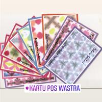 SATU PAKET KARTU POS WASTRA SHIBORI ISI 10 KARTU