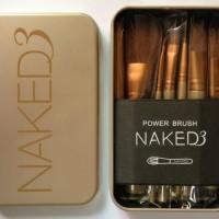 Isi 12 Kuas Make Up Brush Naked 3 / Naked3 Brush Set Kit Murah
