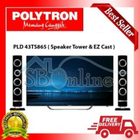 Promo LED TV POLYTRON 43 Inch PLD 43TS865 CINEMAX WAVE - SCREEN