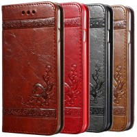 5 5S 6s Luxury Flip Leather Case For iPhone 6 6s 7 Plus 3D Wallet Coqu