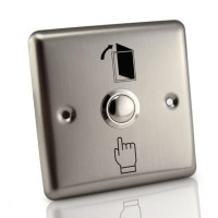 Exit Button Stainless Besar Access Door Control Push Bell Pintu