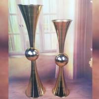 Vas Bunga Gold Globe Vase Centerpiece - Height 63cm Tempat Bunga Murah