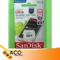 MS/TF SANDISK ULTRA 64GB CLASS 10 80MBPS