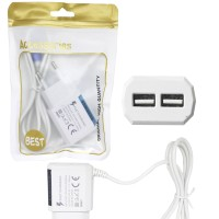 CHARGER CASAN SAMSUNG DUAL USB NEW LED 2.1A REMAX EDITION