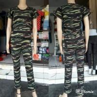 Baju senam army bigsize / Baju olahraga /Setelan army bigsize