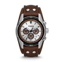 Jam Tangan Fossil Coachman Chronograph Brown Leather CH2565