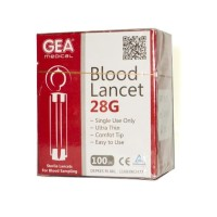 GEA Blood Lancet 28G / Jarum lancet murah isi 100 pcs