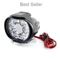 Lampu Tembak Sorot LED Spion Motor Cree 6 Mata 6W