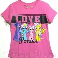 "Baju kaos karakter kuda pony ""Love ponies"" 1-6"