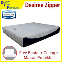 Kasur Spring Bed Simmons Desiree Zipper 140x200