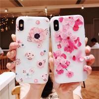 For Samsung Galaxy J2 J5 J7 Prime J2 Pro J4 J6 2018 3D Pink Flower