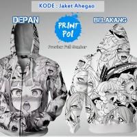Jaket Ahegao Echii H++  [ Jaket Full Print Anime ]