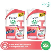 Biore Hand Soap Fruity Antiseptic Refill Duo