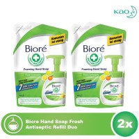 Biore Hand Soap Fresh Antiseptic Refill Duo