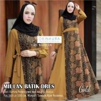 Miulan Batik Dress by Naura gamis wanita muslimah