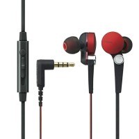 Elecom Stereo Headset Grand Bass System dia.13.6mm Driver - Red