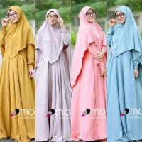 Gamis busui / Kerudung murah / Baju hijab Syari : Maora syar'i Set