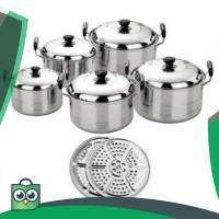 PANCI 1 SET 5 Pcs KINGKO America High Pots   Steamer Stainless steel