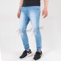 Celana Jogger Pants Bahan Jeans Saku Model Chino Ripped - Cowok Sobe