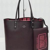 c01fa4c8571a Sweet Coach Reversible Tote Oxblood Kotak. Tas Wanita Branded Original