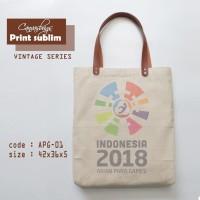 99d728338a Tas Asian Para Games  tas canvas tote bag  vintage sublim APG -01