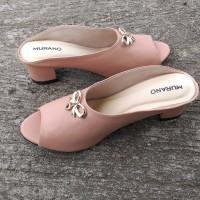 Sandal Pesta Wanita Jumbo Big Size Pink