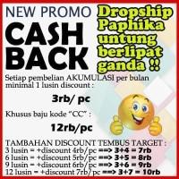 Harga info new promo cashback for our partner dropshipper paphika | antitipu.com