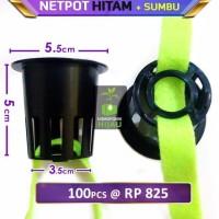 BEST SELLER NETPOT HIDROPONIK DENGAN SUMBU FLANEL