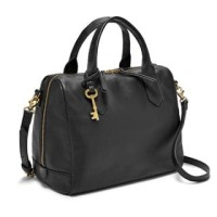 Harga original fossil fiona leather long strap tas wanita black | antitipu.com