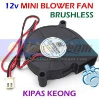 Terlaris 12V Mini Blower Fan Kipas Keong Brushless Dc Angin Cooling