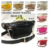 Tas Wanita Waistbag Bordir Tas Pinggang Branded Chanel Bisa Selempang