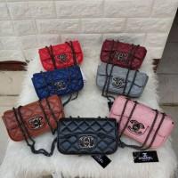 Tas Wanita Selempang Slingbag Chanel Mini Tempat Hp Tas Santai Limited