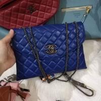 Tas Wanita Import Murah Branded Chanel Clutch 2 Ruang Best Seller