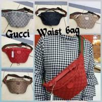 Tas Wanita Waist Bag Tas Pinggang Gucci Kanvas Hits Best Seller Murah