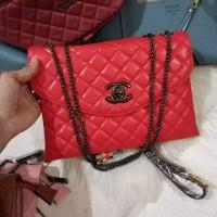 Tas Wanita Import Murah Branded Chanel Clutch 2 Ruang Limited Edition