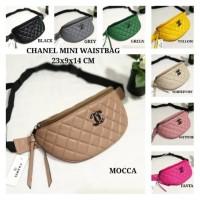 Tas Waistbag Pinggang Chanel Bordir Bisa Selempang Limited Murah Promo
