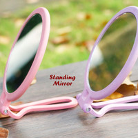 DUAL SIDE Standing Mirror (Cermin 2 sisi, 1 sisi normal, 1 zoom 10x)