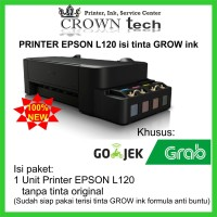 Printer Epson L120 upgrade tinta GROW ink formula anti buntu