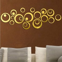 1092 Wall stiker kaca acrylic BULAT impor hiasan dinding