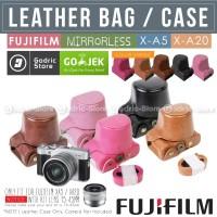 Fujifilm X-A5 / XA5 Leather Bag / Case / Tas Kamera Mirrorless