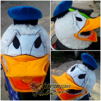 Cover Helm Lucu - Sarung Helm Lucu Karakter Donald Duck