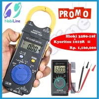 Paket Hioki 3280-10F AC Clamp Meter + Kyoritsu 1019 Digital Multimeter